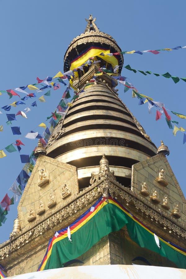 Buddhist Monastry, Nepal stock photography