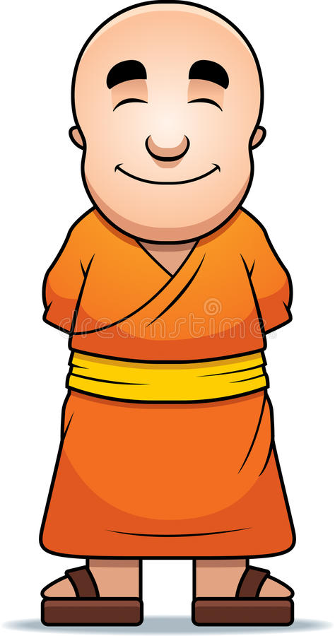 Download Buddhist Monk stock vector. Image of martial, bald, robes - 16561290