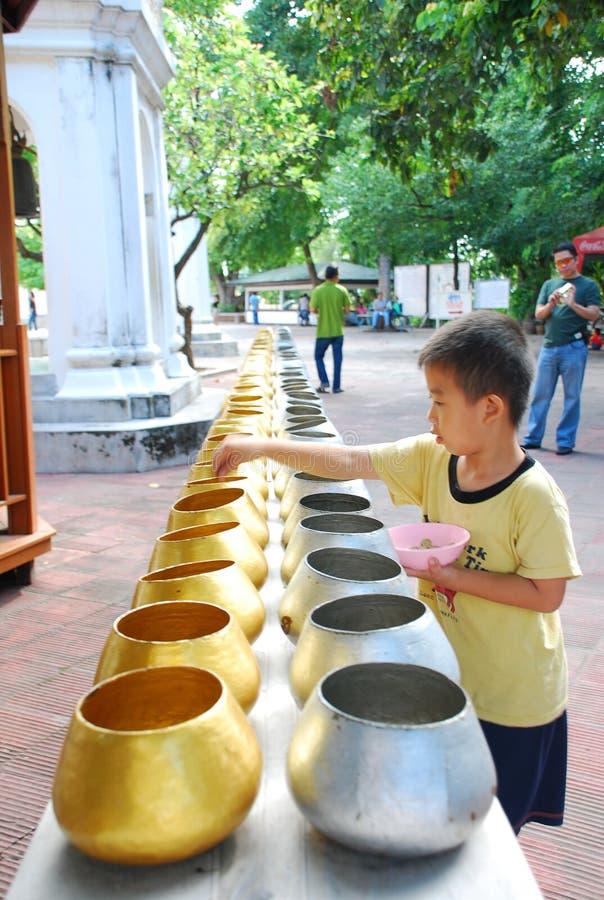 Buddhist Monk Alms Bowls Editorial Stock Image