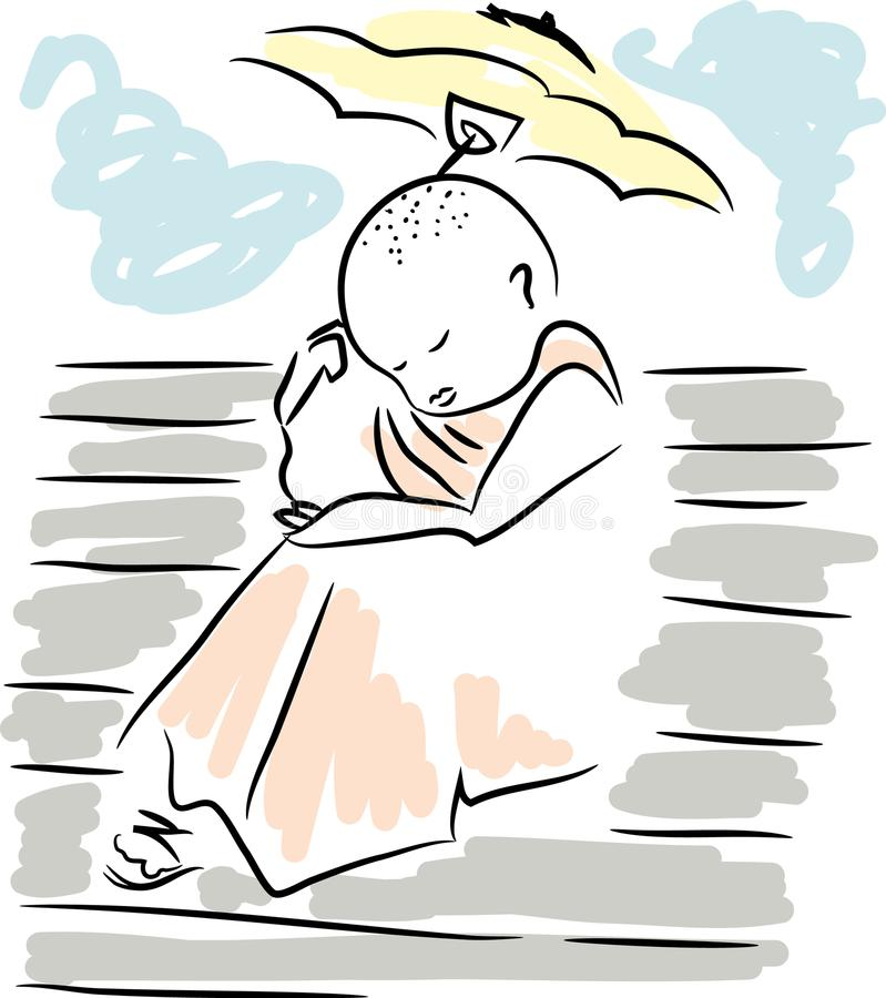 Download Buddhist monk. stock vector. Illustration of buddhist - 109094231