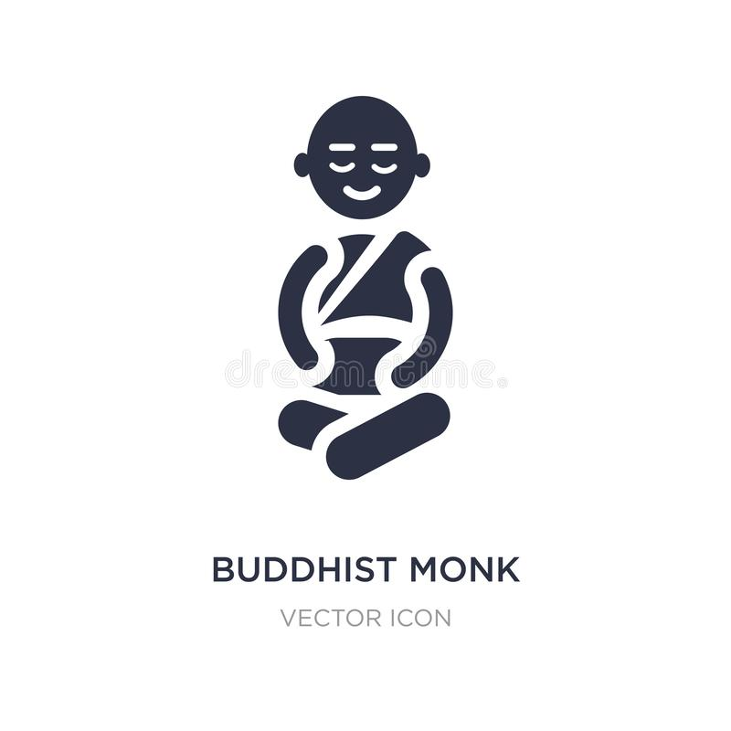 buddhist monk icon on white background. Simple element illustration from Religion concept stock illustration
