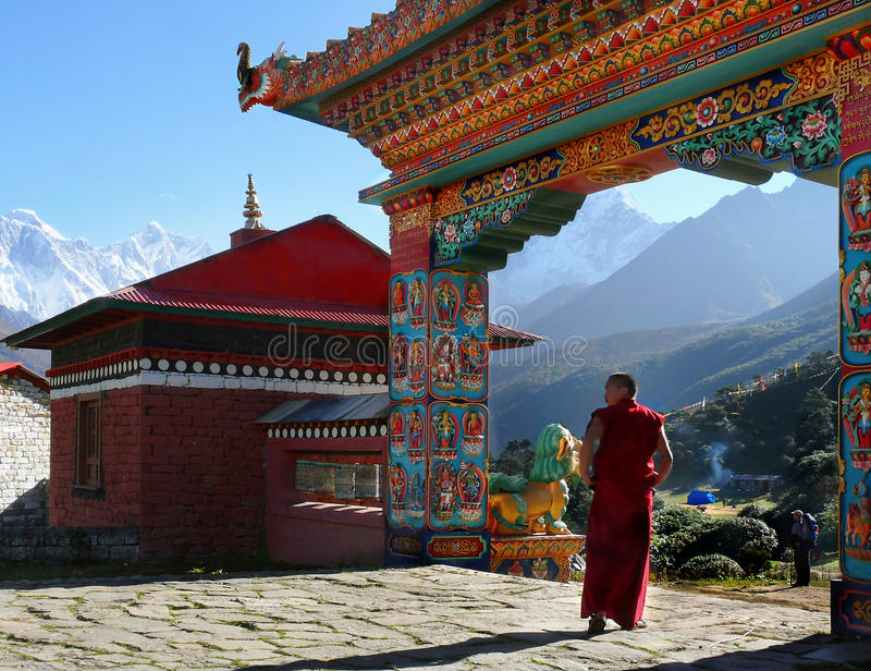 Download Buddhist Monk Monastery Himalayas Editorial Image - Image of khumbu, decoration: 66198905