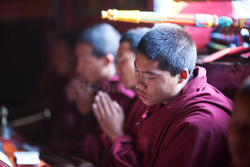 Download Buddhist Monk During Puja Ceremony Editorial Photo - Image: 16457291