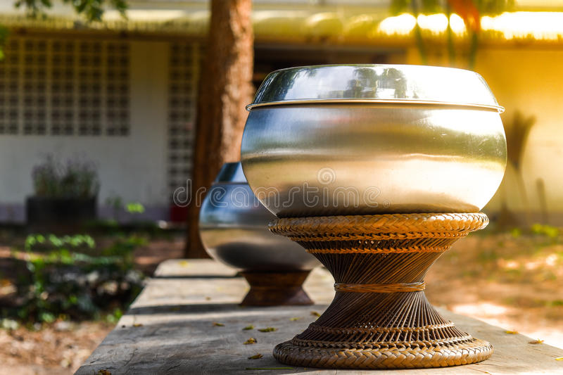 Buddhist Monk's Alms Bowl. royalty free stock image