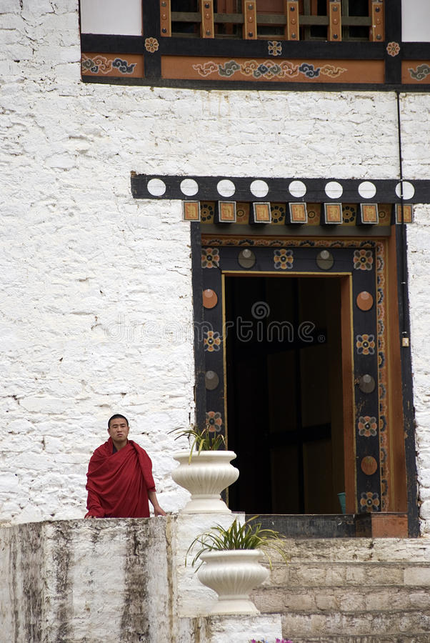 Free Buddhist Monk, Simtokha, Bhutan Stock Photos - 14398203