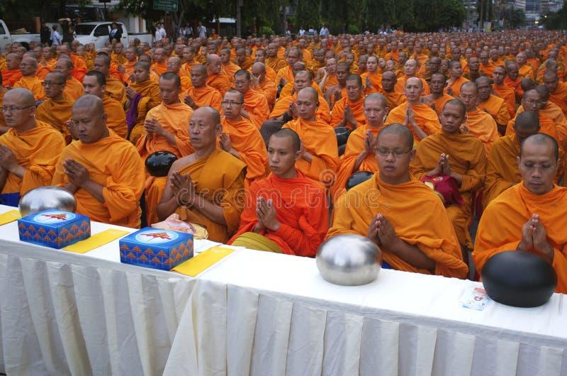Buddhist Monks in Bangkok stock images