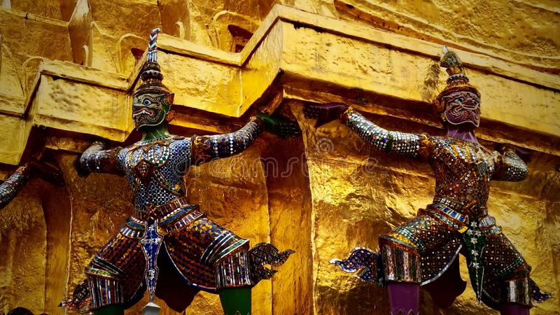 Buddhist monument in Thailand. Great royal palace. Bangkok stock image