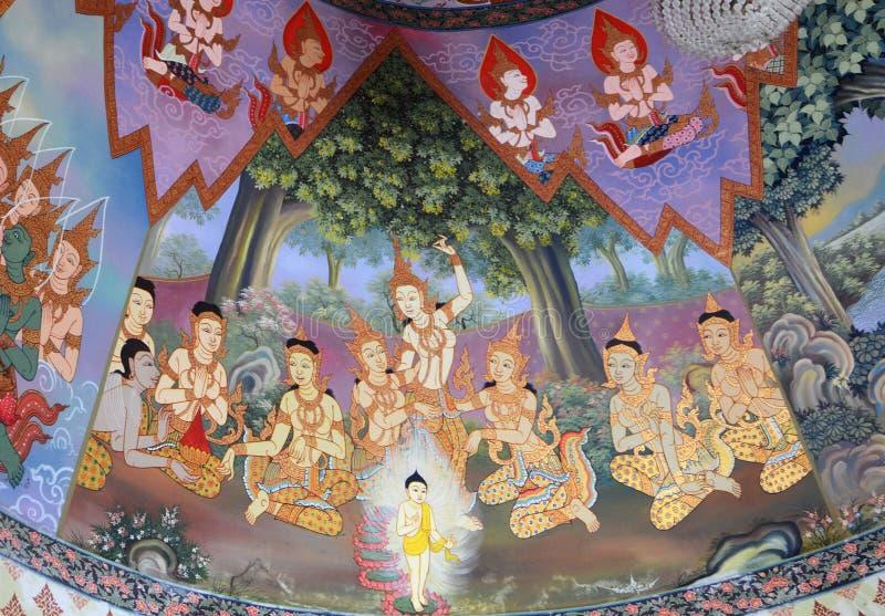 Buddhist Murals stock photos