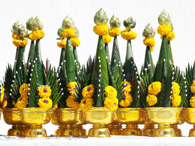 Download Buddhist offerings stock image. Image of bloom, object - 26009415