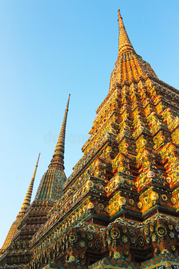 Buddhist Pagoda of Thailand stock photo