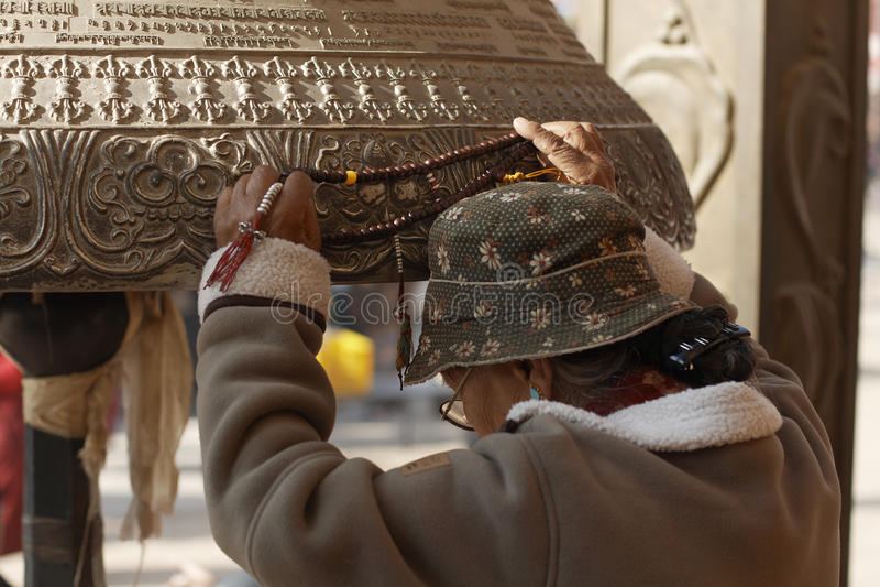 Download Kathmandu, Nepal, Buddhist Pilgrim At Boudhanath Stupa Editorial Photo - Image: 23126281