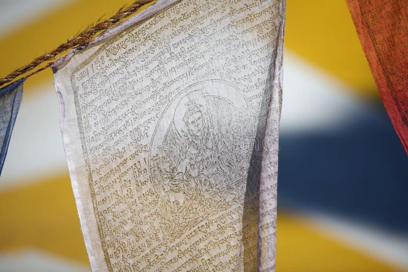 Download Buddhist Prayer Flag stock photo. Image of writing, white - 16036014