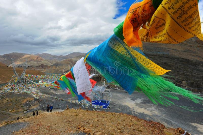 Buddhist prayer flag royalty free stock image