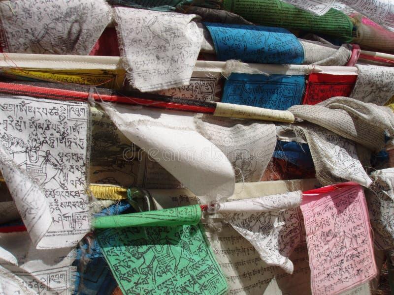 Buddhist Prayer Flags stock image