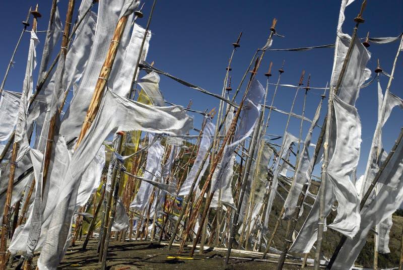 Buddhist Prayer Flags - Kingdom of Bhutan stock photos