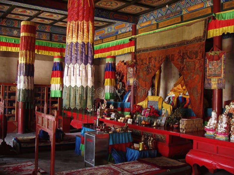 Buddhist Prayer Room royalty free stock photography