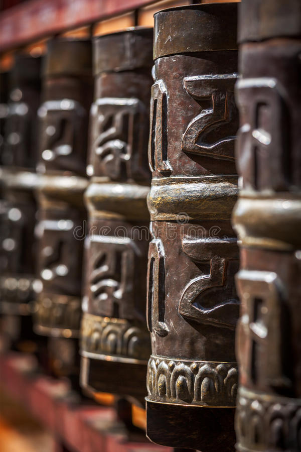 Download Buddhist prayer wheels stock image. Image of outdoors - 30725021