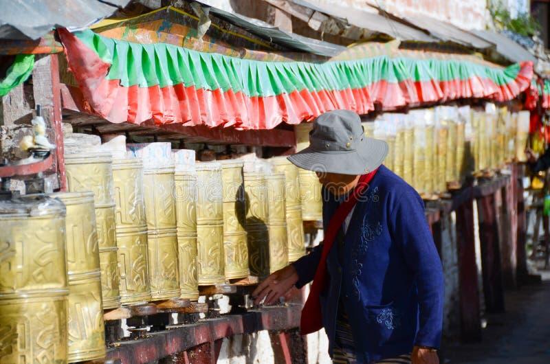 Buddhist prayers stock images