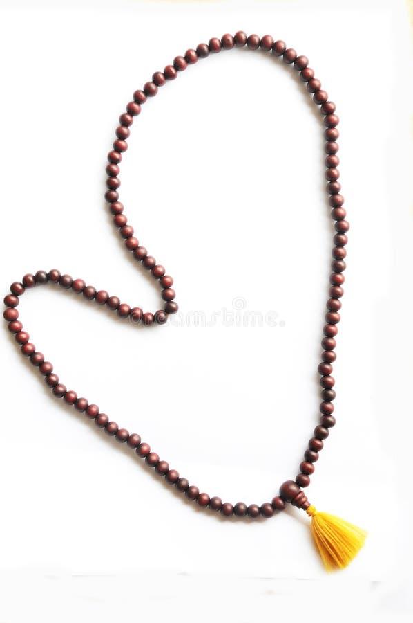 The Buddhist praying beads stock images