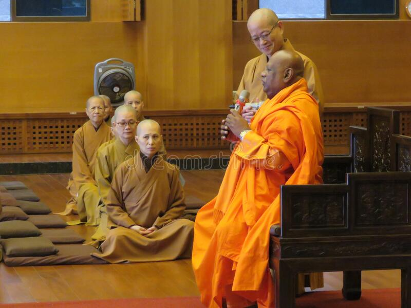 Buddhist Priests In The Temple Free Public Domain Cc0 Image