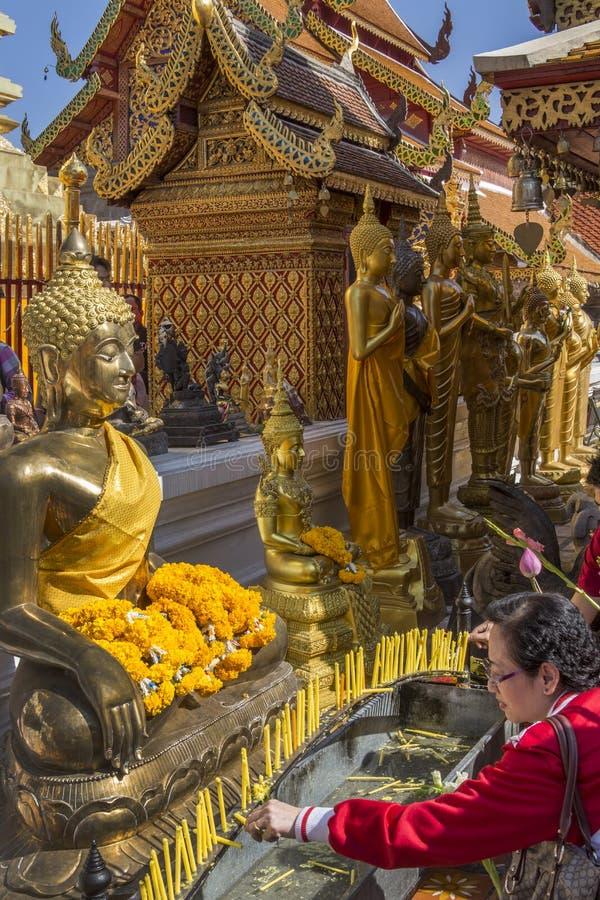 Doi Suthep Buddhist Temple - Chiang Mai - Thailand royalty free stock photography