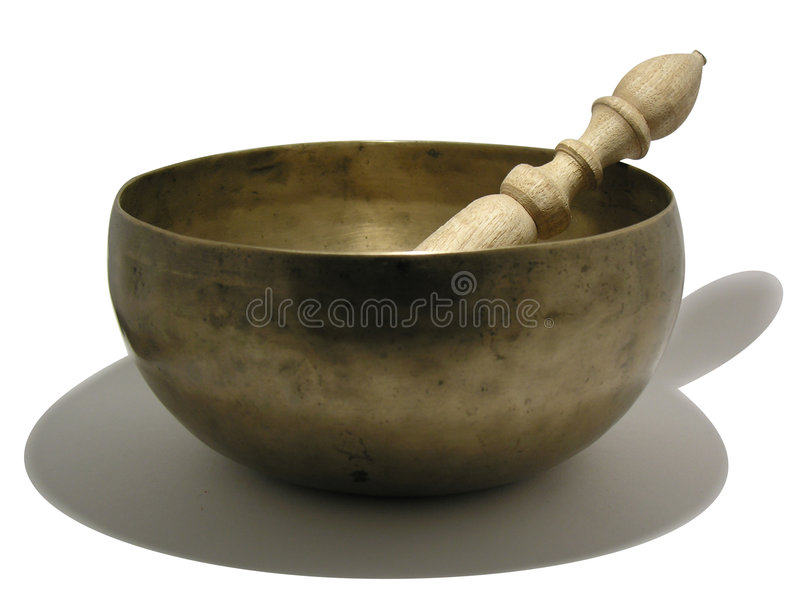 Download A Buddhist singing bowl stock image. Image of percussion - 90723