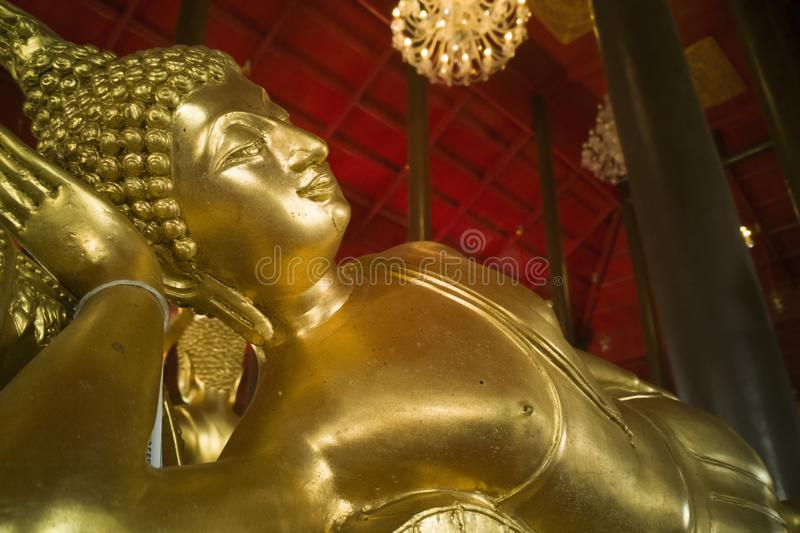 Buddhist state in Temple of Thailand stock photography