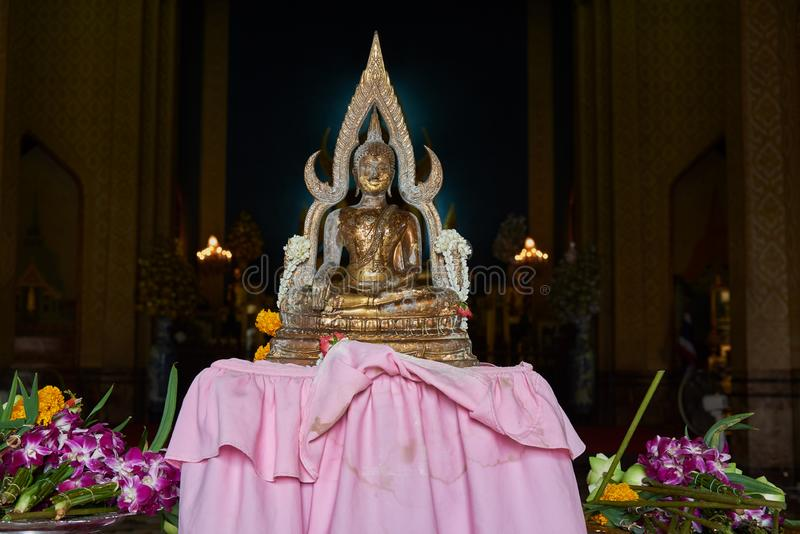 Marble Statue At Buddhist Temple Stock Image Image Of