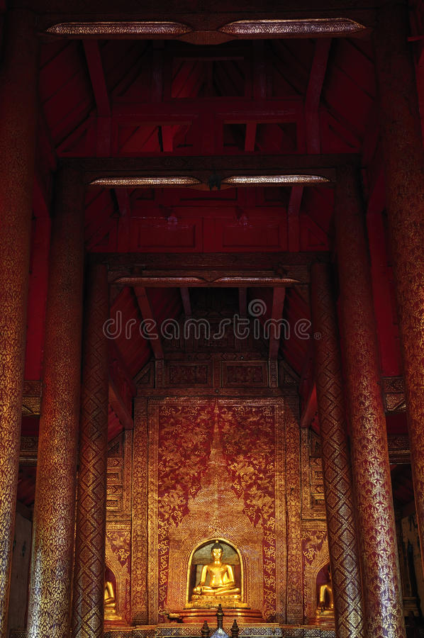 Buddhist Statue In Temple Royalty Free Stock Images