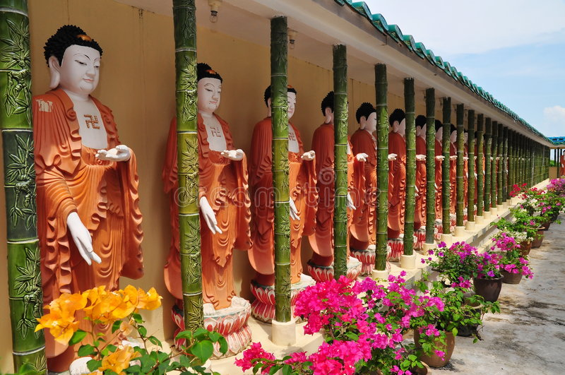 Download Buddhist Statues Outside Temple Stock Image - Image: 7540019
