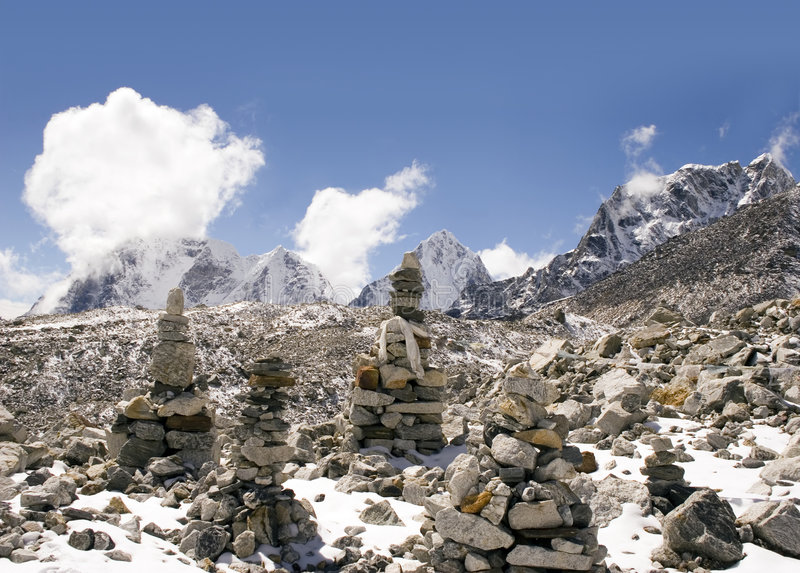 Download Buddhist Stones - Nepal stock photo. Image of mystery, mountains - 570506