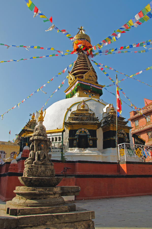 Download Buddhist Stupa With Colorful Prayer Flags Royalty Free Stock Images - Image: 22769629