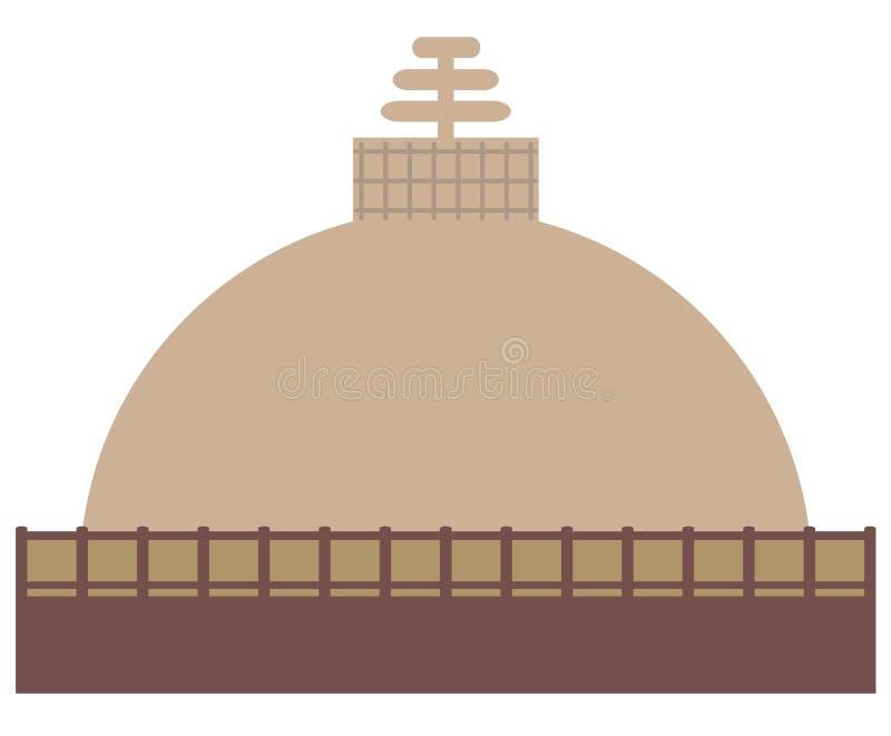 Buddhist stupa on a white background vector illustration