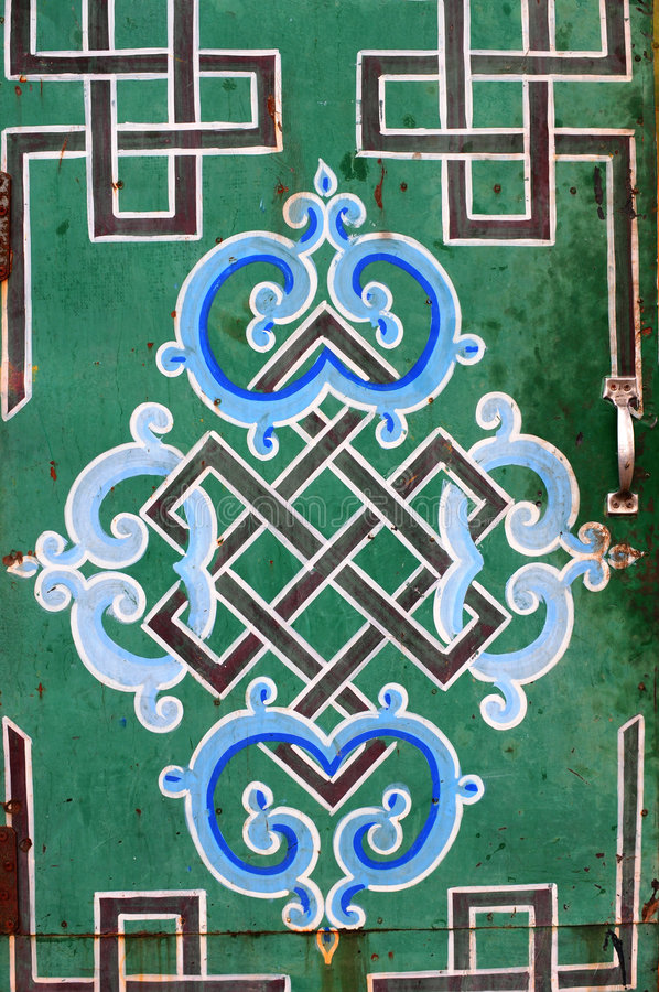 Download Buddhist Symbols And Endless Know, Mongolia Stock Photo - Image: 5385230