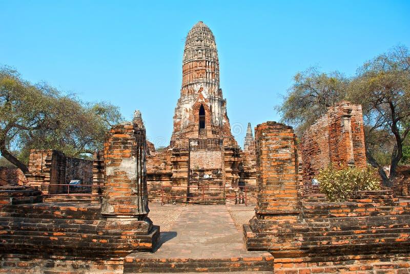 Buddhist temple in Ayutthaya royalty free stock photo