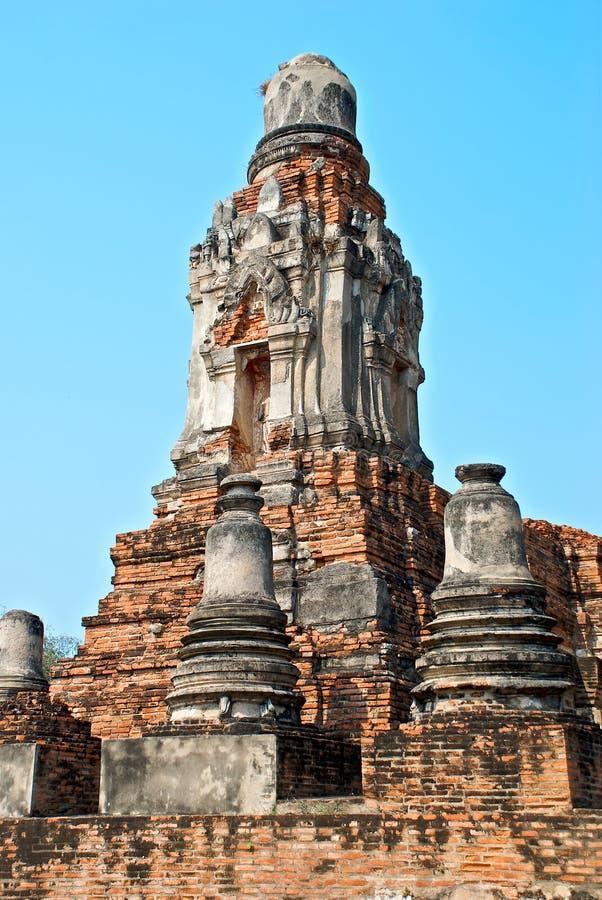 Buddhist temple in Ayutthaya stock image