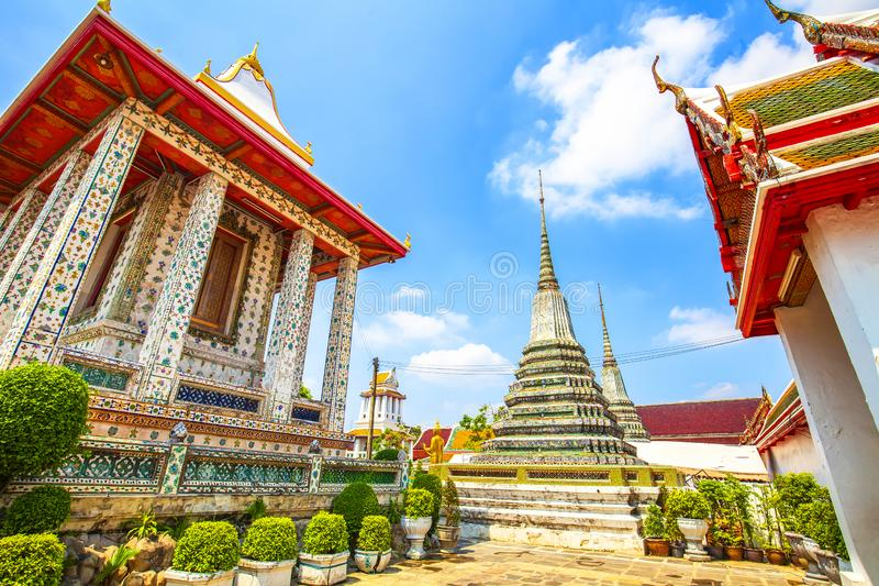 Buddhist temple in Bangkok royalty free stock images