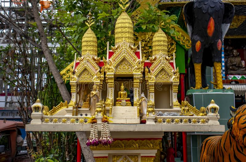 A Buddhist temple in Bangkok, Thailand. royalty free stock photos