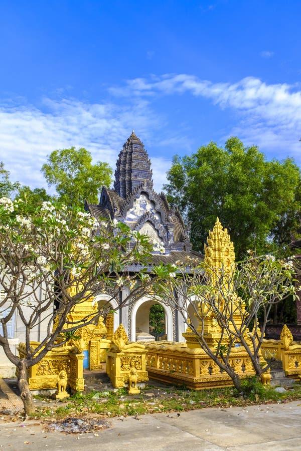 Buddhist temple in Battambang, Cambodia royalty free stock photo