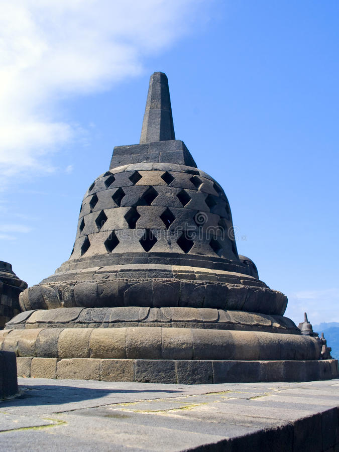 Buddhist temple Borobudur stock photo