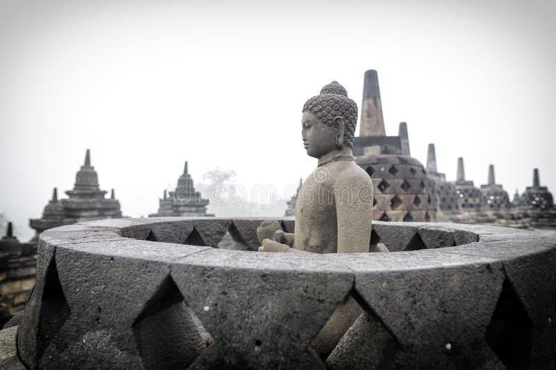 Buddhist Temple Borobudur Taken at Sunrise. Yogyakarta, Indonesia royalty free stock photo