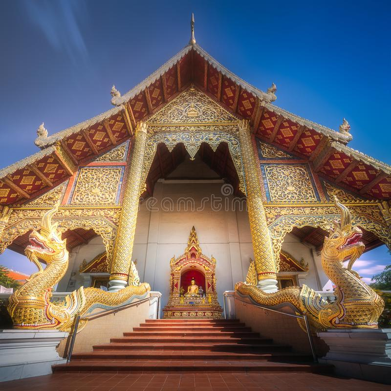 Download Buddhist Temple Chiang Mai With Dragons, Thailand Stock Image - Image of landmark, brick: 109167565