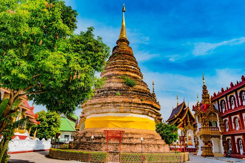 Buddhist temple Chiang Mai, Thailand stock image