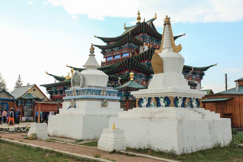 Buddhist temple. Ivolginsky Datsan, Republic of Buryatia, Russia stock images
