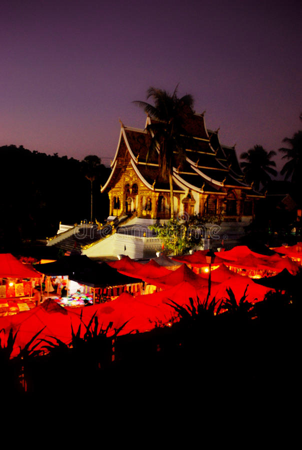 Buddhist temple in Luang Prabang,Laos royalty free stock images