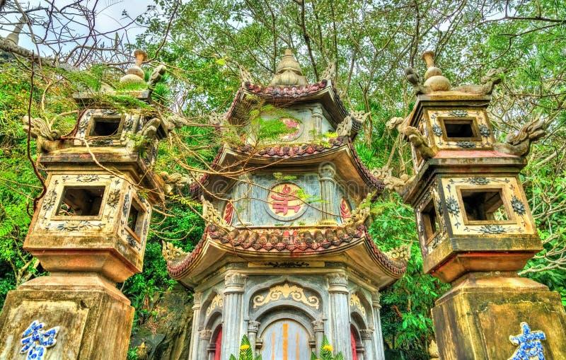 Buddhist temple on Marble Mountains at Da Nang, Vietnam stock photos