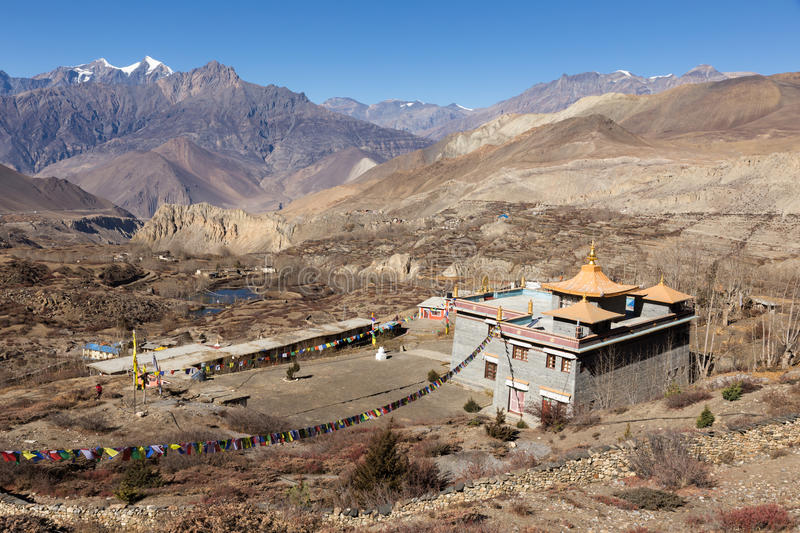 Buddhist temple of Muktinath lower Mustang, Nepal.  stock photos