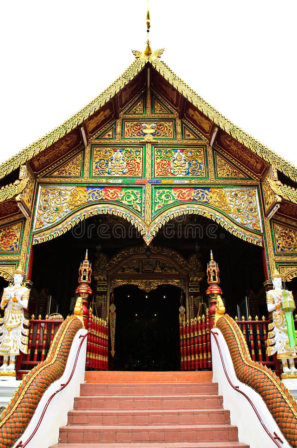 Buddhist temple named Wat Ming Muang. In Chiangrai province of Thailand royalty free stock image