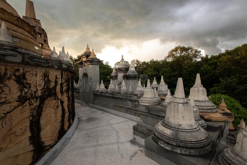 Buddhist Temple : Sandstone Pagoda in Pa Kung Temple at Roi Et of Thailand. Buddhist Temple : Sandstone Pagoda in Pa Kung Temple at Roi Et ,Thailand stock photos