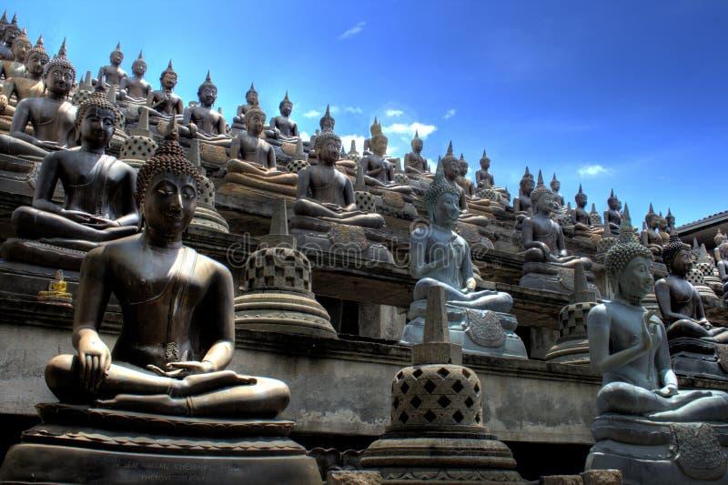 Buddhist temple in Sri Lanka stock photo